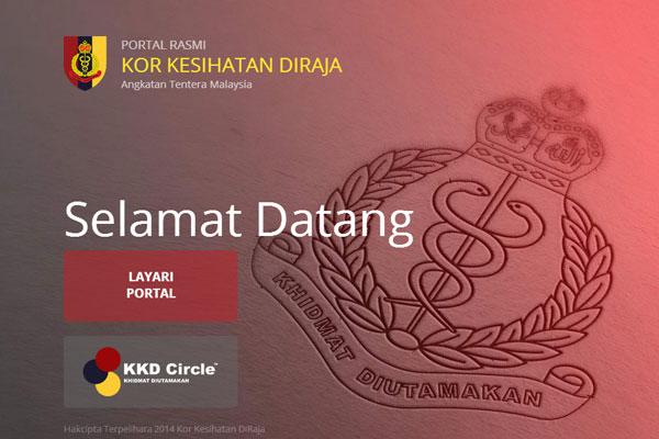 Kor Kesihatan DiRaja - portal Tentera Darat Malaysia