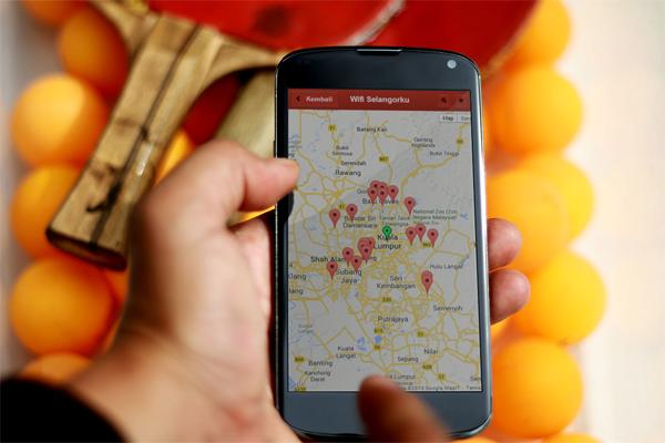 Wifi Selangorku - app mobil berasaskan peta