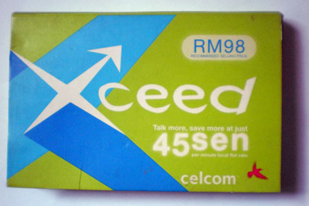 Celcom Xceed Simpack